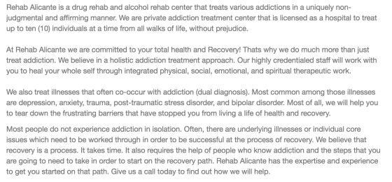 Drug Rehab Alicante